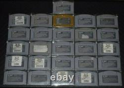 Lot Complete De N64 Non Pour Resale Jeux D'étiquette Avant Cartouches Authentiques Clean