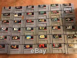 Lot De 36 Snes Super Nintendo Jeux Authentique En Bon État