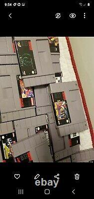 Lot De 72 Authentiques Originaux Super Nintendo Supernes Cartouches De Jeux Snes