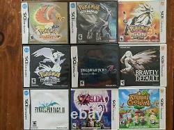 Lot De 9 Jeux 3ds/ds Tous Utilisés Tous Les Authentiques Pokemon Heart Gold +8 Autres