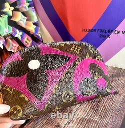 Louis Vuitton Cosmetic Pouch Crossbody Custom Peint Comme Un Jeu Sur Authentique