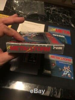 Metal Storm (nintendo, Nes) Cib Complete In Box Avec L'affiche! Authentique / Near Mint