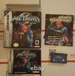 Metroid Fusion Gba Game Boy Advance Cib Complete Authentic Tested