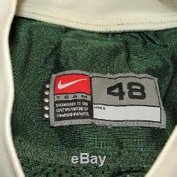 Miami Hurricanes Authentique Utilisé Nike Pro Cut Jersey'99 Vintage Retro Sz 48
