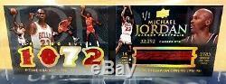 Michael Jordan 1/1 Auto Livre 2008-09 Upper Deck Exquis Jeu Utilisé Jersey Patch
