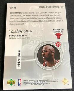 Michael Jordan 2004-05 Sp Jeu D'occasion Correctifs Authentiques 3 Échant 054/100 #d
