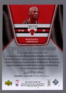 Michael Jordan 2007-08 Sp Jeu Utilisé Tissus Authentiques Jersey Chicago Bulls