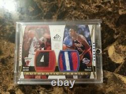 Michael Jordan Isiah Thomas 2004 Sp Tissus Authentiques Jeu Utilisé Patch /10 Rare