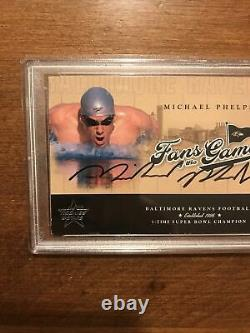 Michael Phelps 2004 Leaf R & S Fans Game Auto Fg-2 Olympic Psa 10 Authentique