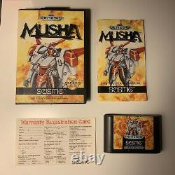 Musha Sega Genesis M. U.s. H. Une Carte Complète Cib Authentic Original Manual & Reg