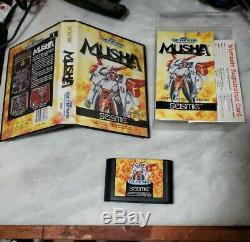 Musha (sega Genesis) Complète Avec Carte D'enregistrement - Authentique - M. U. S. H.