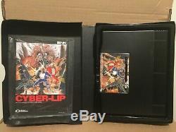 Neo Geo Complète Snk Aes Cyber-lip Authentique Cib (us Vendeur)