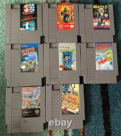 Nes Console Et Jeu Lot! 30 Jeux! Zelda, Mario, Mega Man! Tous Authentiques
