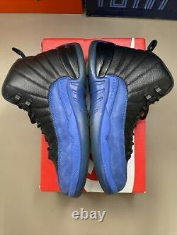 Nike Air Jordan 12 Game Royal Sz 9.5 100% Authentique Rétro XII Black Blue