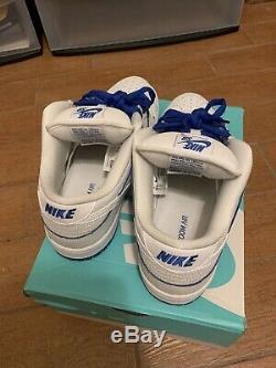 Nike Sb Dunk Low Premium Pro Jeu De Porcelaine Royal 10,5 M 100% Authentique