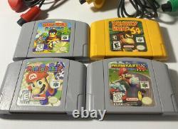 Nintendo 64 Console De Jeu Vidéo Bundle 3 Contrôleurs Et 4 Jeux Tous Authentiques