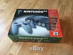 Nintendo 64 N64 Cib In Box Console Authentique Bateau Rapide
