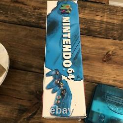 Nintendo 64 N64 Console De Jeu & Contrôleur Ice Blue Funtastic With Box Authentic