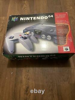 Nintendo 64 Système De Jeu Vidéo Complet En Box N64 1996 Vgc Autoentique Rare