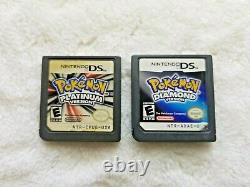 Nintendo Ds/3ds Lot 8 Jeux De Pokemon Noir 2 + Heartgold + Plus, Authentique