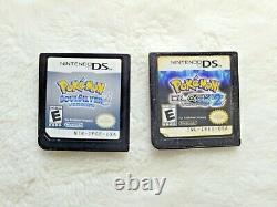 Nintendo Ds/3ds Lot 8 Pokemon Jeux Noir 1+2 + Soulsilver + Plus, Authentique