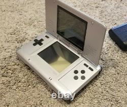 Nintendo Ds Original Silver Bundle Lot Jeux Pokemon Platinum Blanc Authentique