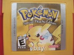 Nintendo Game Boy Jeux Pokemon Bleu Rouge Jaune Authentic & Sauvegarde