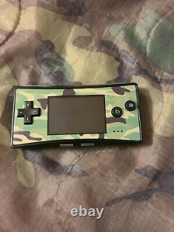 Nintendo Game Boy Micro Console Et Authentique Pokemon Leaf Vert