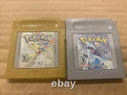 Nintendo Game Boy Pokemon Silver & Gold Authentic & Saves New Battery