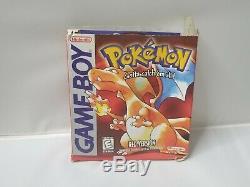 Nintendo Game Boy Pokemon Version Rouge Authentique Panier Manuel Boîte