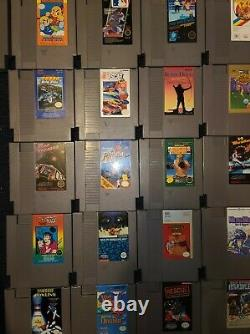 Nintendo Nes Lot De 99 Jeux Authentiques De La Maison Lot Énorme Collector
