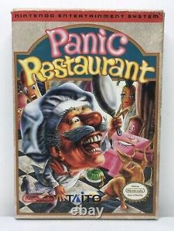 Nintendo Nes Panic Restaurant Complet Dans Box Cib Authentique/nettoyé/testé