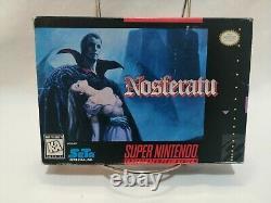 Nosferatu Super Nintendo Snes Authentic Complete Cib Avec Inserts Et Affiche