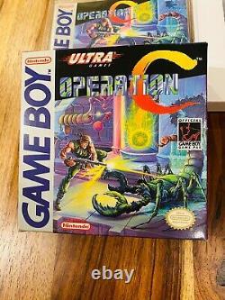 Opération C Gameboy Nintendo Cib Boîte Complète Panier Manuel Authentique Vg+