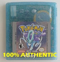 Original Authentic Pokemon Crystal Version Peut Sauver La Nouvelle Couleur Garçon Jeu De Batterie