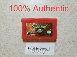 Original Authentic Pokemon Firered Version (game Boy Advance) Testé & Sauve