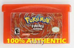 Original Authentique Pokemon Fire Red Version Enregistrer Correctement Gameboy Advance