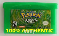 Original Authentique Pokemon Leaf Green Version Enregistrer Correctement Gameboy Advance