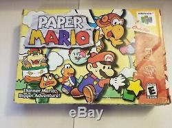 Paper Mario (nintendo 64 N64) En Boite Authentique Tres Rare (pas De Manuel)