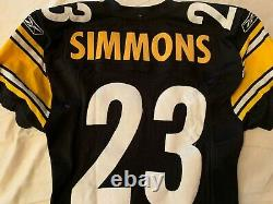 Pittsburgh Steelers Simmons #23 Playoff Game Used Worn Authentic Home Jersey