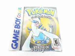 Pokémon Argent Complet Dans La Boîte Nintendo Game Boy Couleur Authentique Nouvelle Batterie Cib