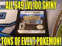 Pokemon Black 2 649 Authentique Tous Shiny Jeu Déverrouillé Événement Pokemon