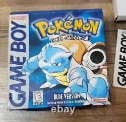 Pokemon Blue Nintendo Game Boy Authentic Près De Cib