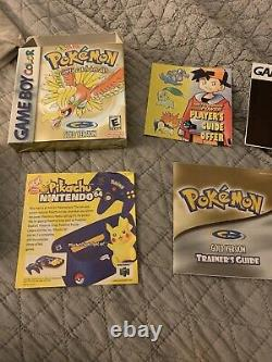 Pokemon Complet Or Authentique Boîte Nintendo Game Boy Color Mint