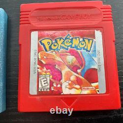 Pokemon Cristal Et Boîte Rouge Gameboy Couleur Gbc Cib Manuel Nintendo Authentic
