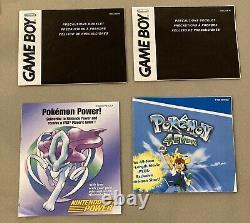 Pokemon Crystal Version (game Boy Color, 2001) Inserts En Boîte Authentiques