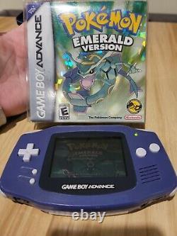 Pokemon Emerald Gba Cib+ Complet Pokémon Authentique Jeu Authentique Garçon Avance