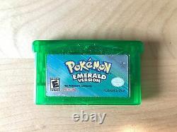 Pokemon Emerald Version Game Boy Advance Nouveau Batterie Authentique Testés Et Travaux