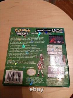 Pokemon Émeraude Authentique Cib Avec Pré-commande D'étain