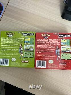 Pokemon Feu Rouge Ciboulette Et Feuille Vert Authentique Et Testé